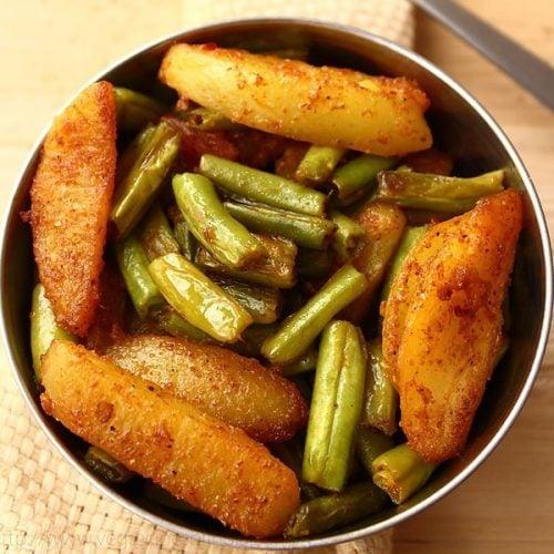 Aloo Beans Recipe, Aloo Beans Ki Sabzi Recipe, Beans Aloo Recipe