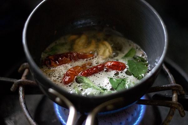tempering the sambar