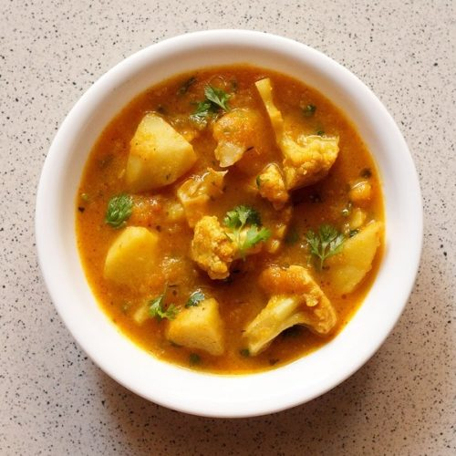aloo gobi gravy recipe, aloo gobi curry recipe