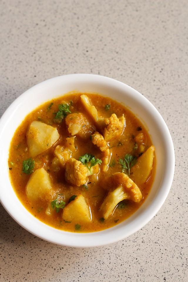aloo gobi curry recipe | dhaba style punjabi aloo gobi curry recipe