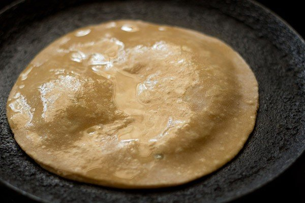 preparing aloo paratha recipe