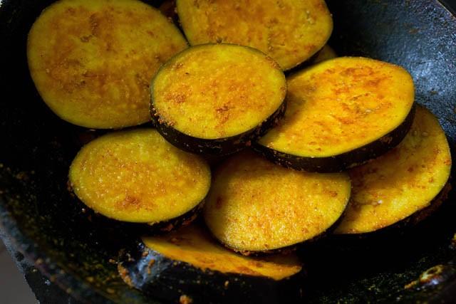 Making Begun Bhaja Recipe