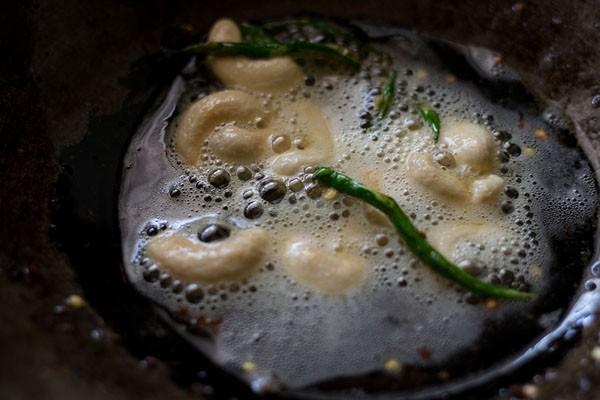 frying cashews for mix veg recipe