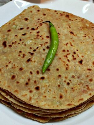 indian breads parathas