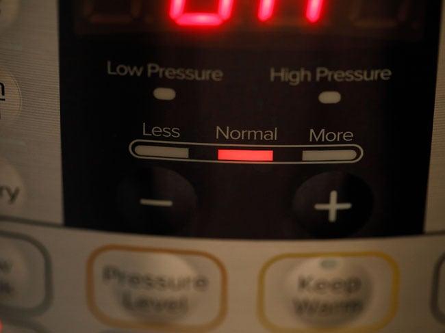 press saute button of instant pot