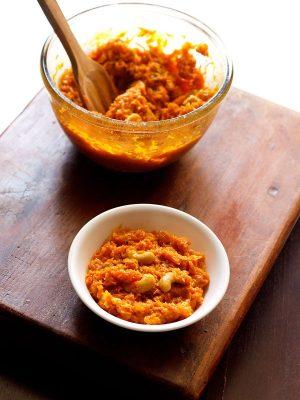 carrot halwa in microwave, gajar halwa recipe in microwave
