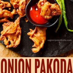 onion pakoda, onion fritters