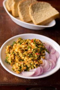 paneer bhurji recipe, how to make paneer bhurji | dry paneer bhurji