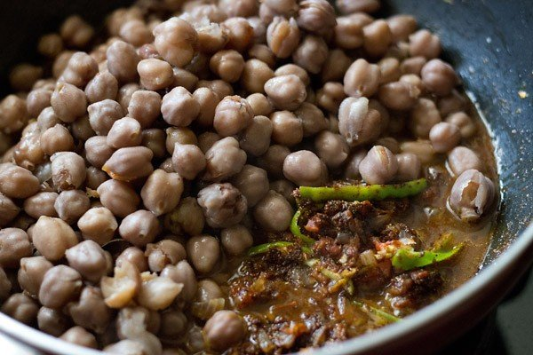 add the chole or chana or chickpeas