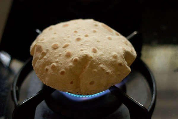 puffed rotis or phulkas