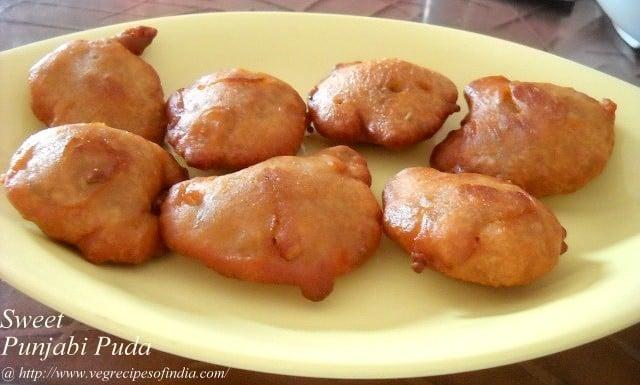 Sweet Puda or Poora Recipe, How to make Punjabi Poora or Puda Recipe