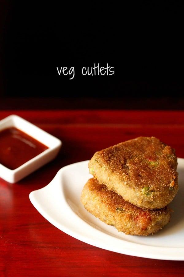 vegetable cutlet recipe, how to make veg cutlet | veg patties recipe