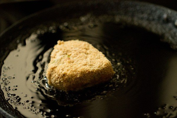 frying vegetable cutlet