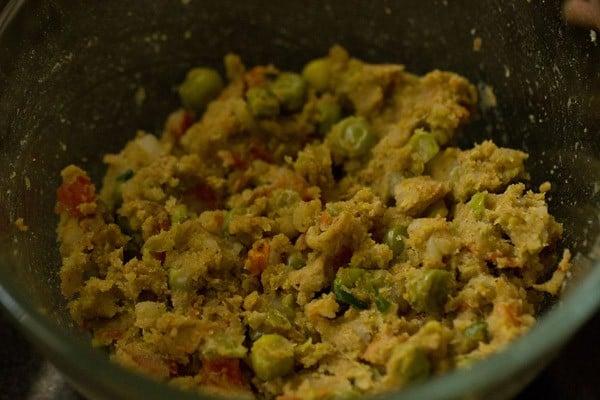 mix vegetable cutlet mixture