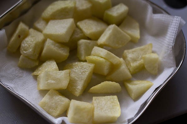 fried aloo for making punjabi aloo bhindi recipe