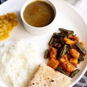 aloo bhindi, aloo bhindi recipe
