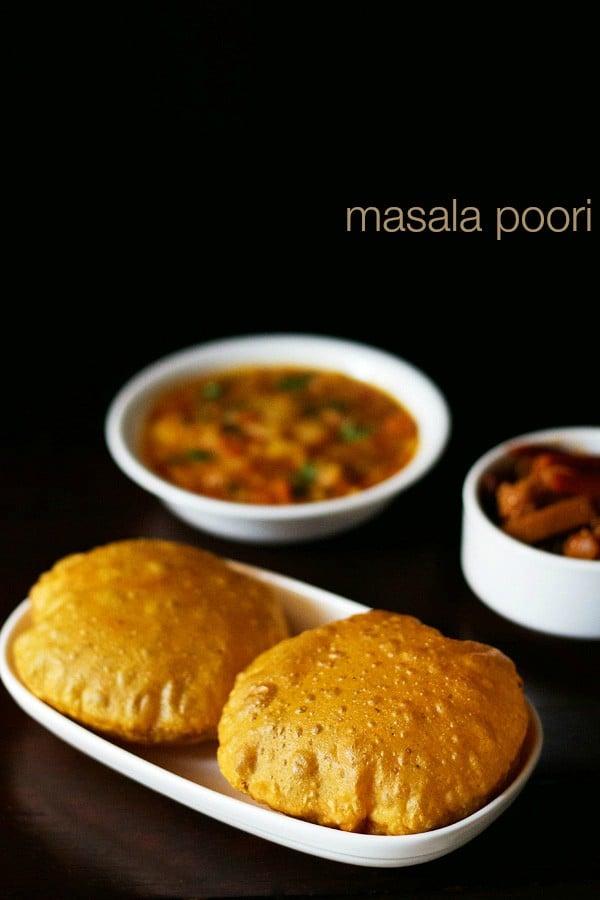 masala poori recipe, how to make masala poori | spicy puri recipe