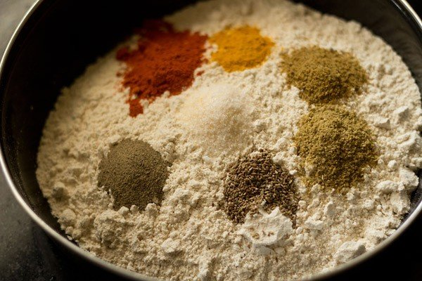 spices and flours in a bowl
