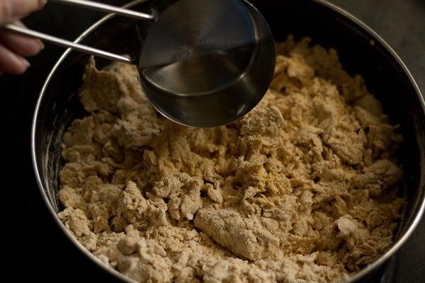 add water to knead masala poori dough