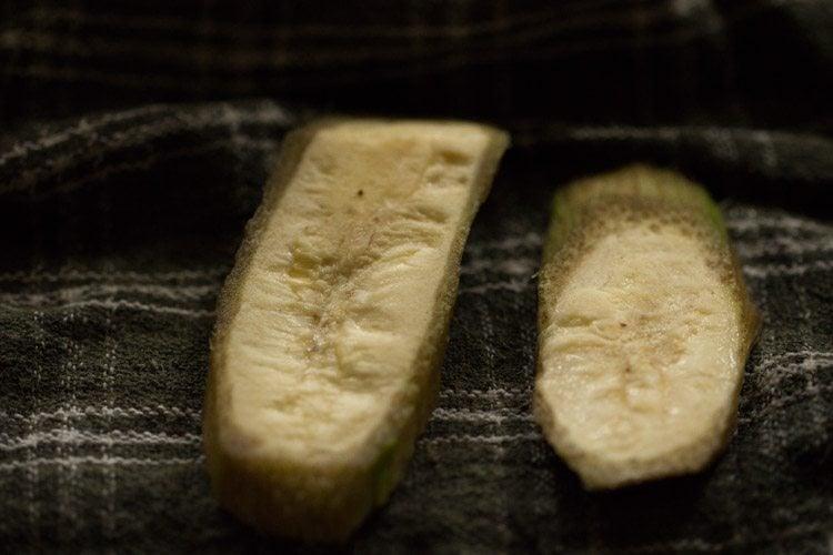 making raw banana pakora recipe