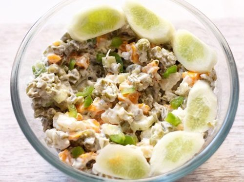russian salad recipe, how to make veg russian salad ...