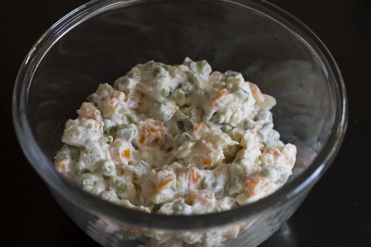 making russian salad recipe