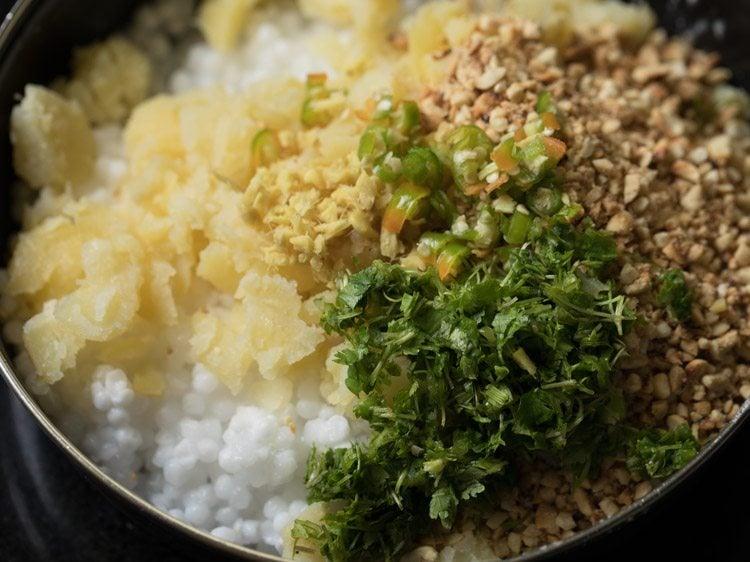 Making Sabudana Vada Recipe