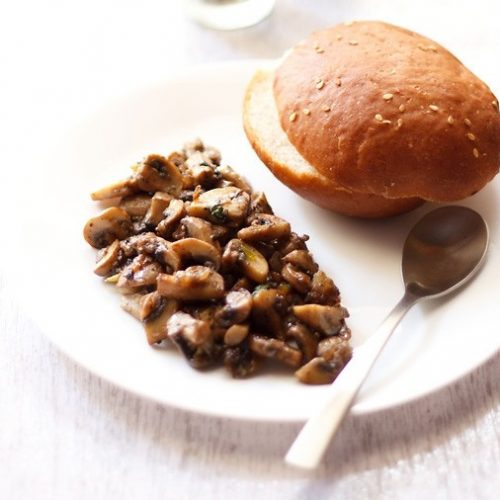 Italian Garlic Mushroom Recipe in Olive Oil