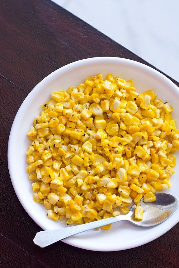 Buttered Corn Recipe, How to make Buttered Corn   Corn Recipes