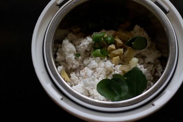 ingredients for nariyal chutney recipe