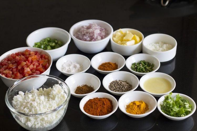 paneer pav bhaji recipe