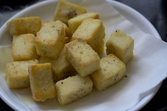 paneer cubes for paneer manchurian recipe