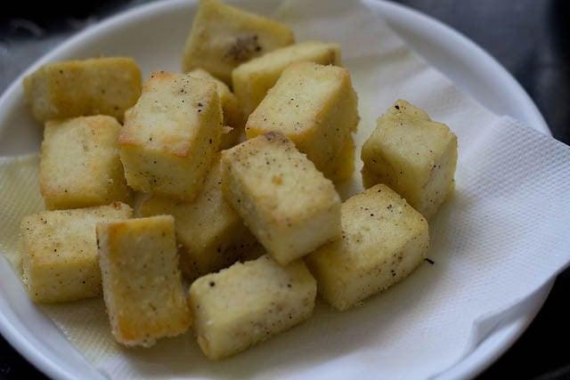 paneer cubes for paneer manchurian recipe