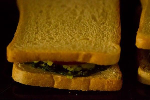 making mumbai masala toast sandwich recipe