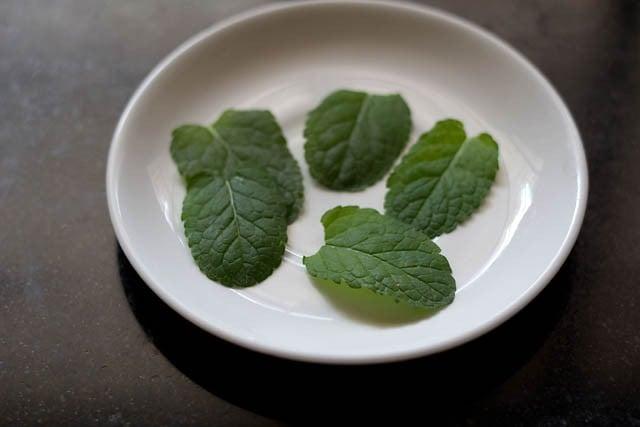 mint tea leaves for mint tea recipe