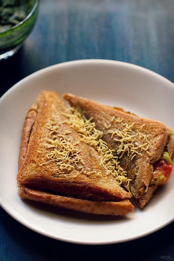 mumbai masala toast sandwich recipe