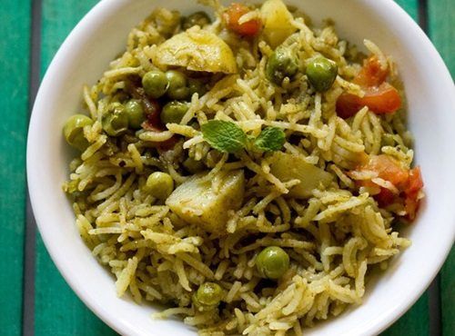 mint rice recipe