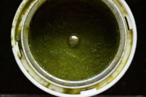 mint coriander paste for mint pulao recipe