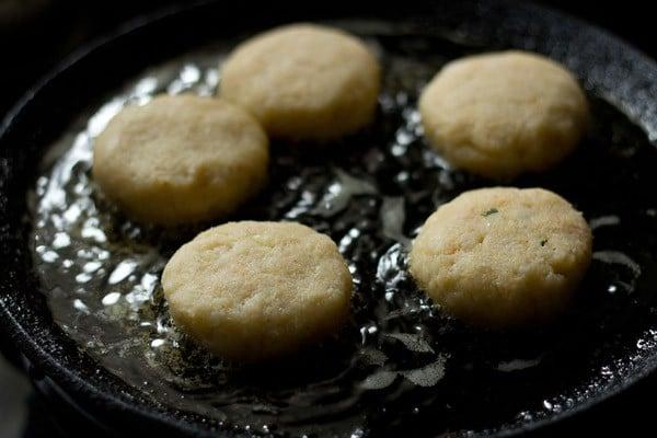 frying corn patties