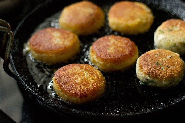 crisp golden corn patties