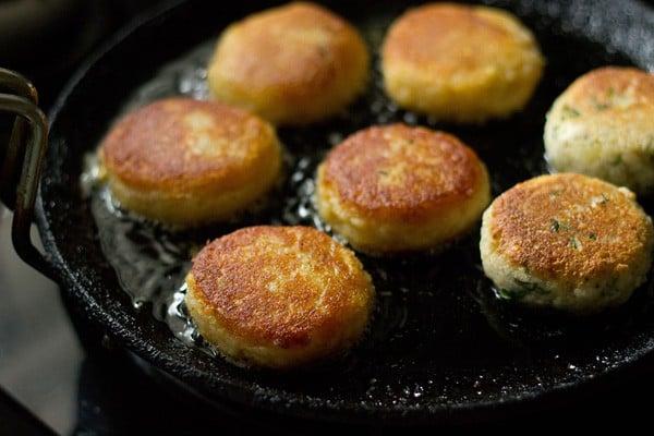 crisp golden corn patties