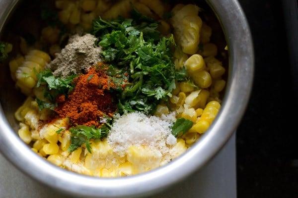 mix corn patties ingredients