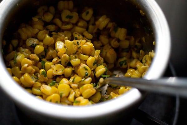 making corn patties recipe