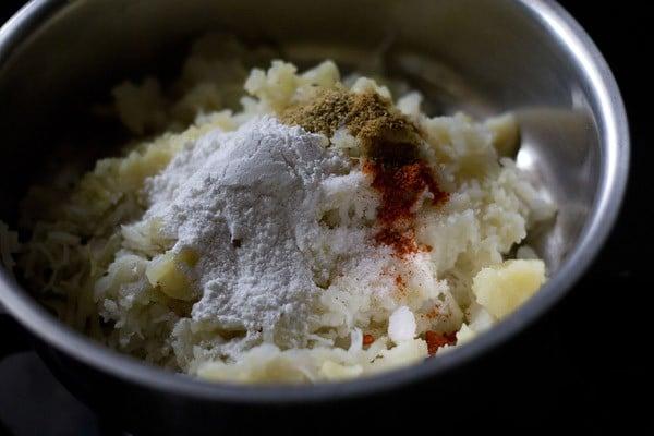 mix corn cutlet ingredients