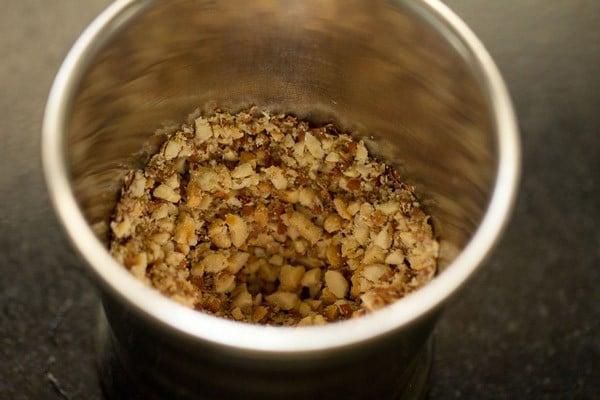 peanut mixture in a jar