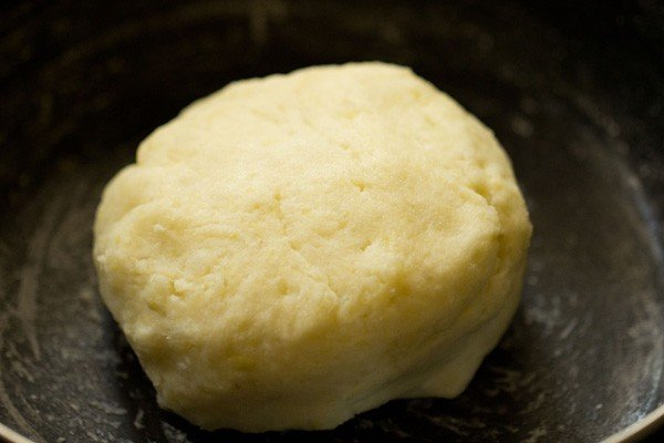 kneaded dough in the bowl
