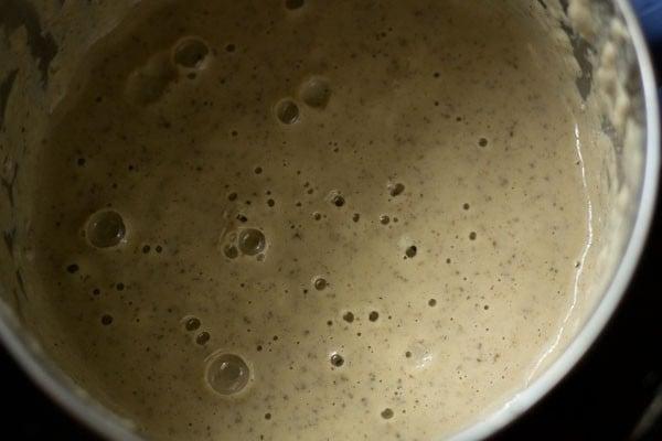 lentils batter in blender