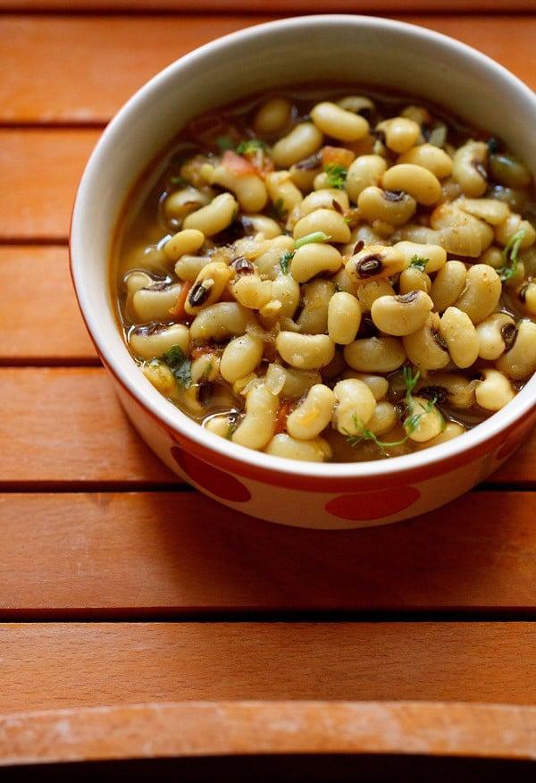 lobia masala recipe or lobia curry, how to make lobia masala recipe