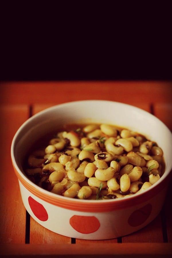 lobia masala, lobia recipe, black eyed beans recipe