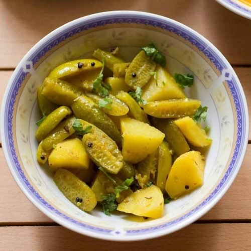 tendli recipe, aloo tendli recipe
